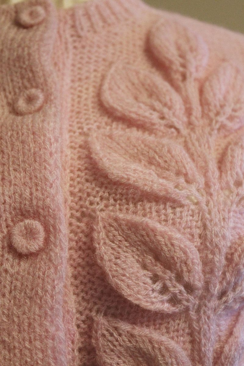 Pink Leaf Sweater 4