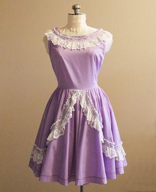 50's Purple Dress 1