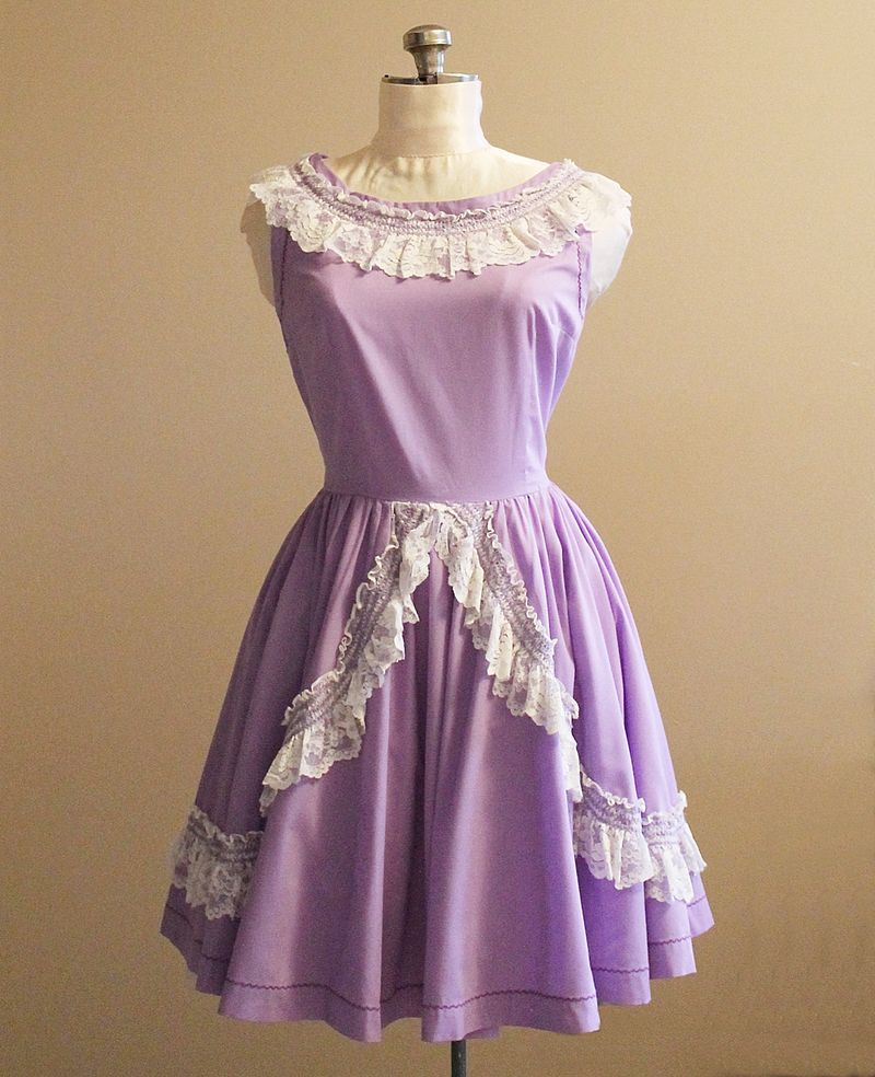 50's Purple Dress 1