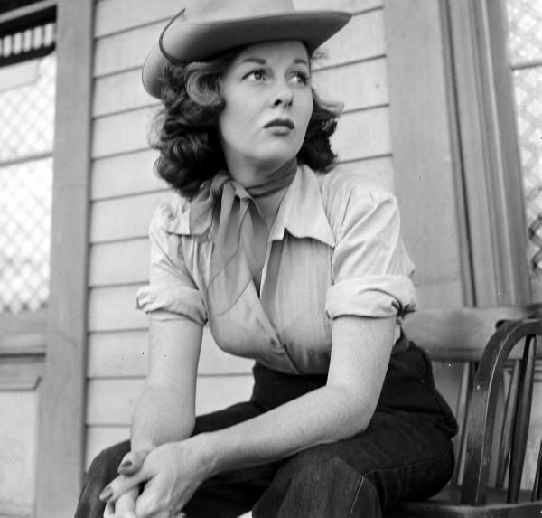 24 Susan Hayward cowgirl sitting