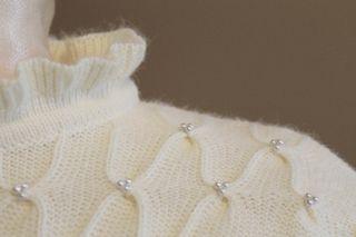 White Beaded Sweater 3
